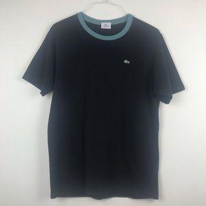 Men's Lacoste Sport Black 100% Cotton T-Shirt S 4
